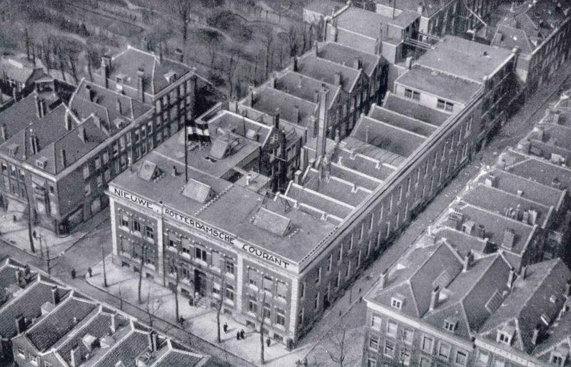 Witte de Witstraat - luchtfoto NRC (1925)