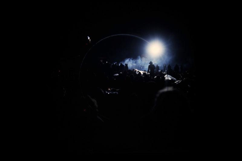 Nachtelijke flare  - Foto door Pieter Boersma